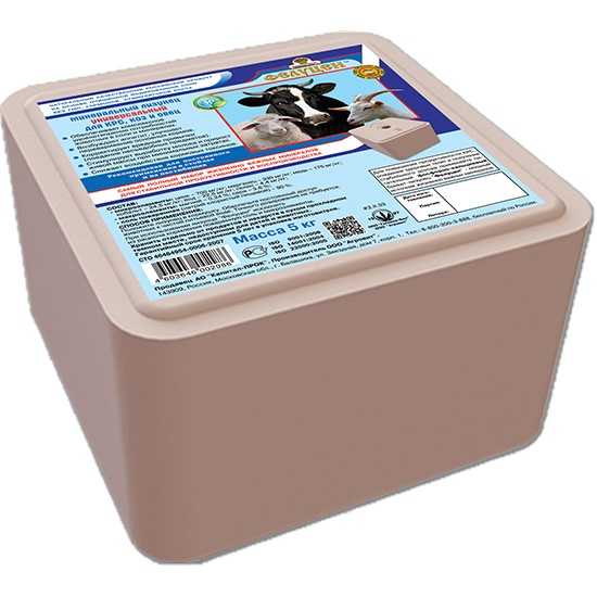 Фелуцен лизунец 5кг. универсальный,дКРС,коз,овец. 12