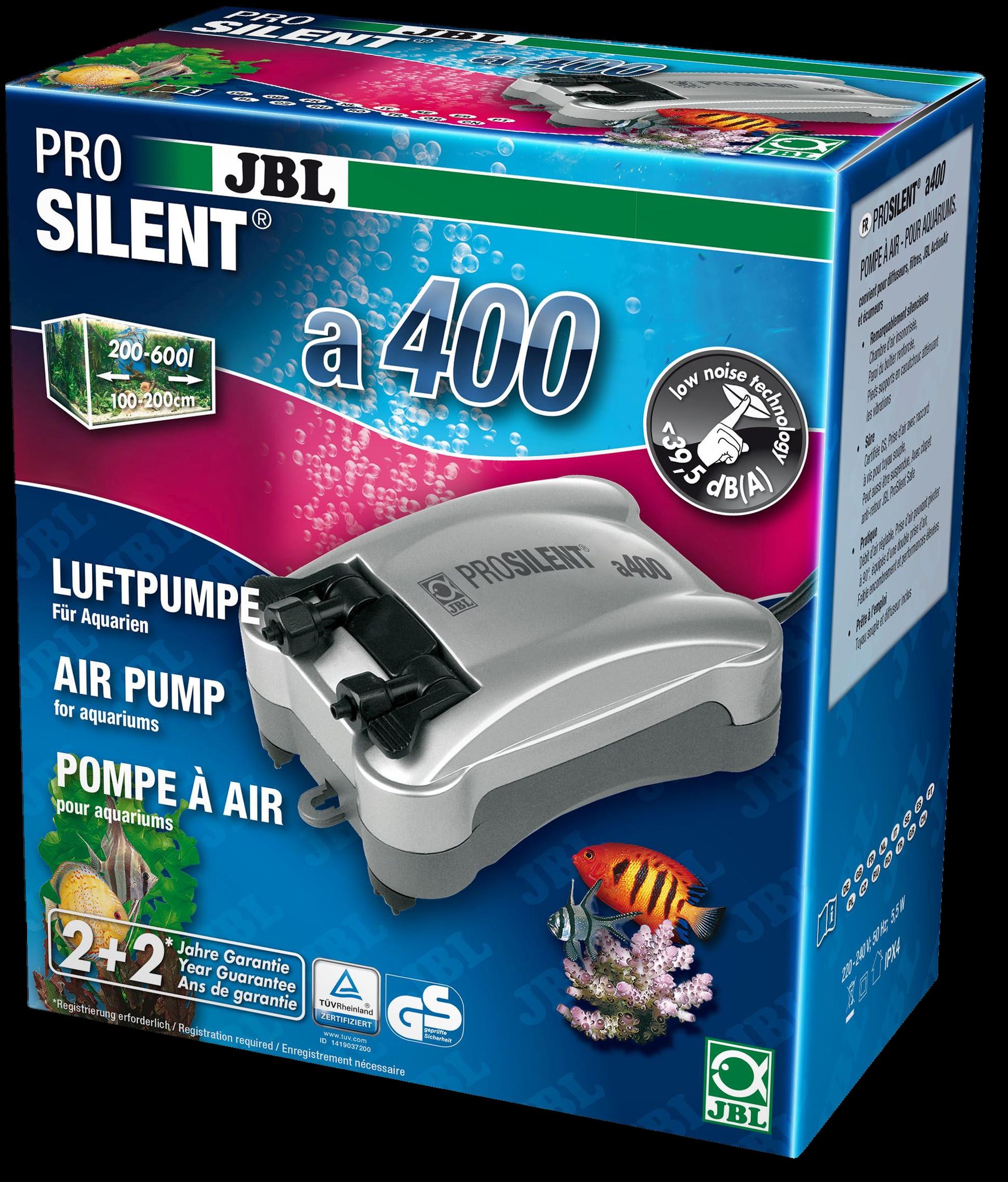 [282.6054400]  JBL ProSilent a400 - Компрессор для пресноводных и морских аквариумов 200-600 л, 5,5 Вт, 282.6054400