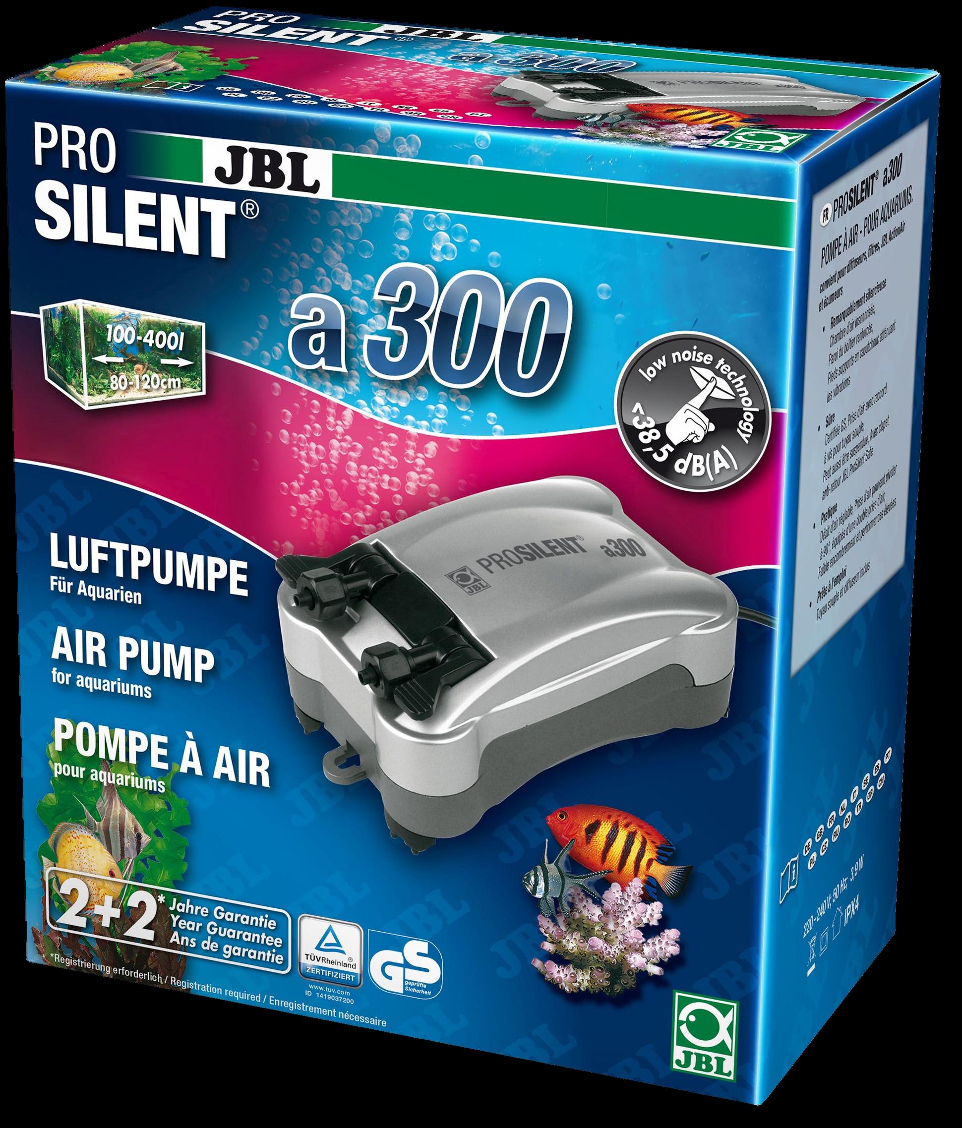 [282.6054300]  JBL ProSilent a300 - Компрессор для пресноводных и морских аквариумов 100-400 л 3,9 Вт