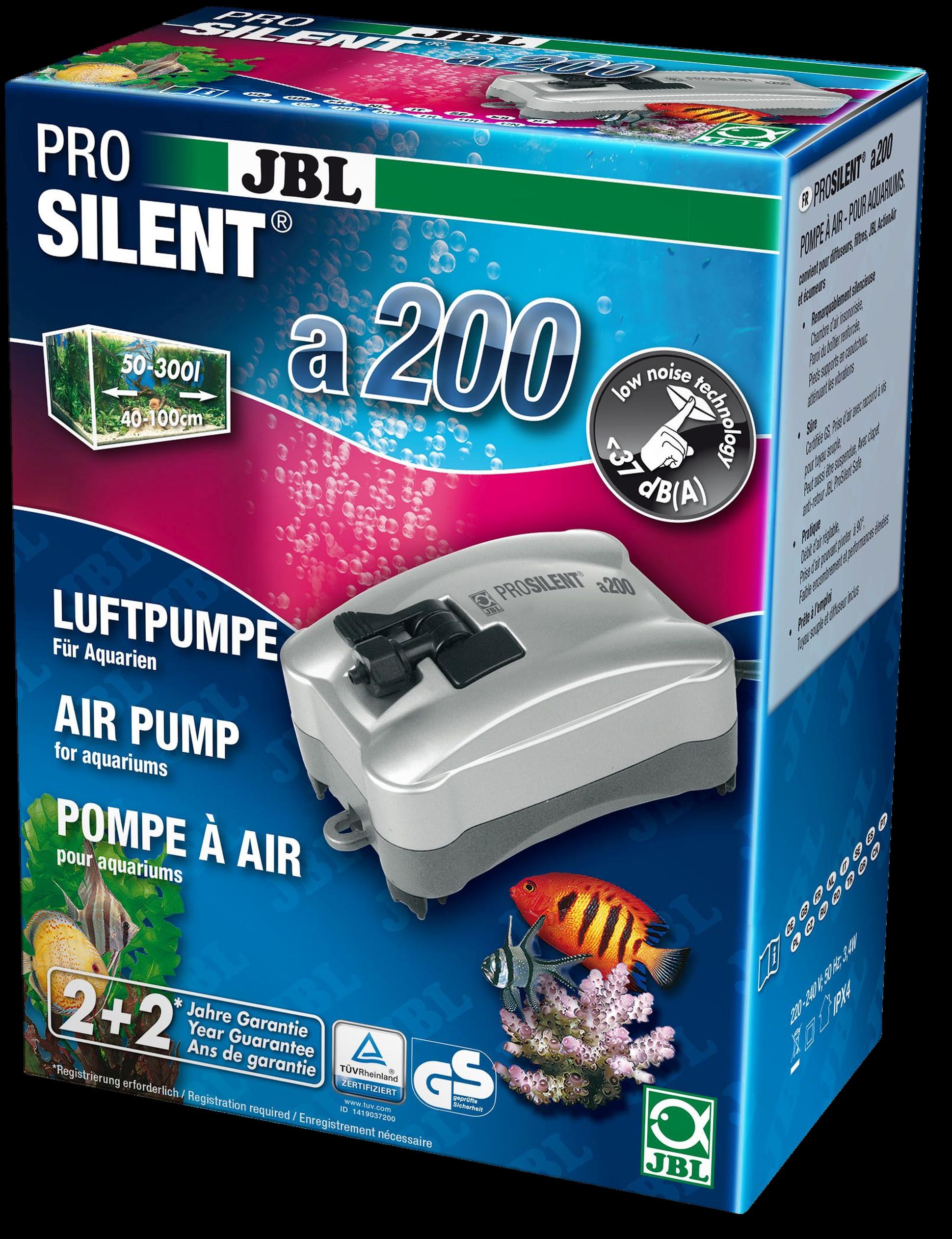 [282.6054200]  JBL ProSilent a200 - Компрессор для пресноводных и морских аквариумов 50-300 л 3,5 Вт