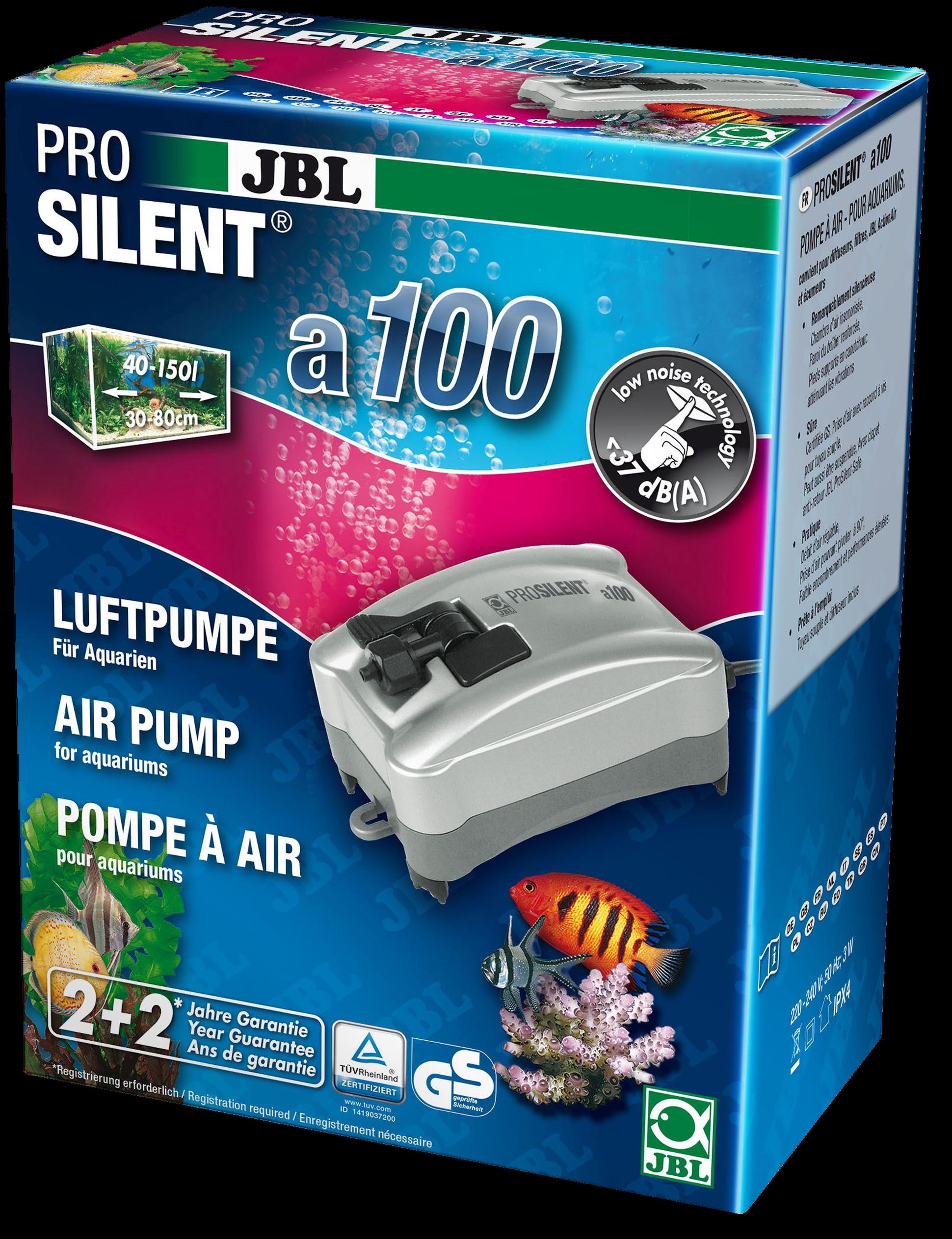 [282.6054100]  JBL ProSilent a100 - Компрессор для пресноводных и морских аквариумов 40-150 л, 2,9 Вт, 282.6054100