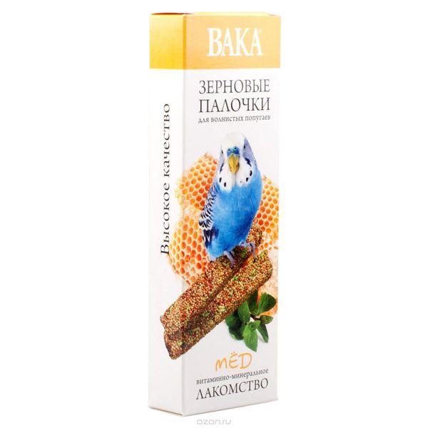 Зерновые палочки ВАКА для волнистых попугаев мёд 2шт.