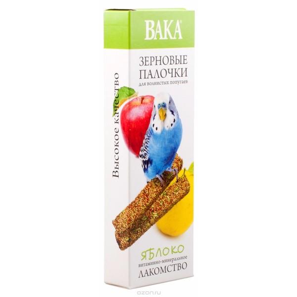 Зерновые палочки ВАКА для волнистых попугаев яблоко 2шт.