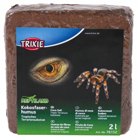 Trixie Кокосовый субстрат для террариумов тип Тропики, брикет 9 л, 1,000 кг