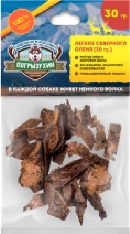 Погрызухин Легкое оленя лакомство для собак 30 гр