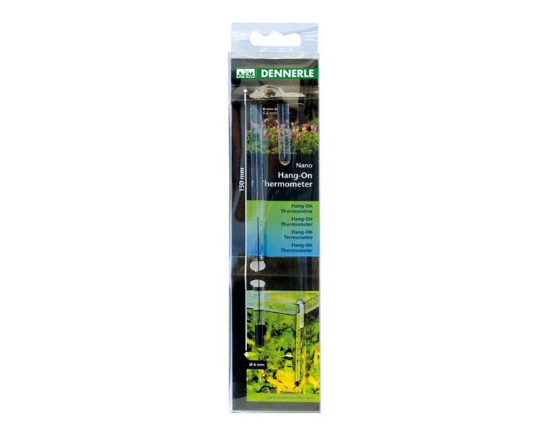 [281.5657]  Dennerle Nano HangOn Thermometer - Стеклянный термометр, подвешивается на стенку аквариума, 281.5657