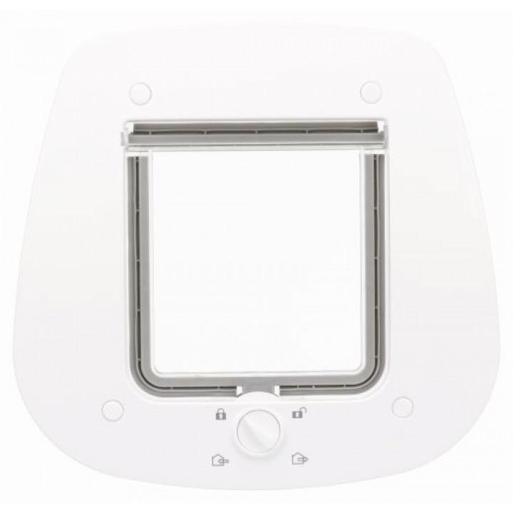 44222 Дверца для кошки 4-Way для стеклянных дверей, 27 х 26 см, серый