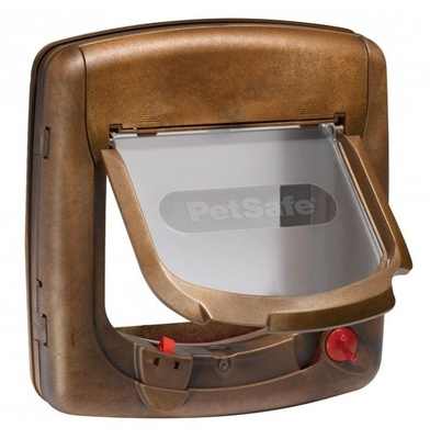 PetSafe Дверца StayWell Deluxe с магнитным замком коричневый, 0,872 кг