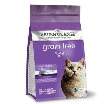 Arden Grange корм для взрослых кошек всех пород, контроль веса, курица 4 кг