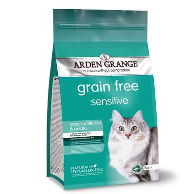 Arden Grange корм для взрослых кошек всех пород, деликатное пищеварение, рыба 4 кг