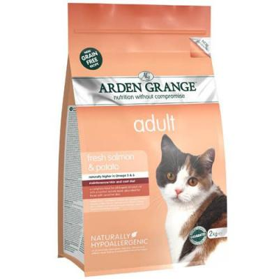 Arden Grange корм для взрослых кошек всех пород, беззерновой, лосось и картофель 400 гр