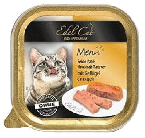 Edel Cat влажный корм для взрослых кошек всех пород, с птицей 100 гр, 1100100784