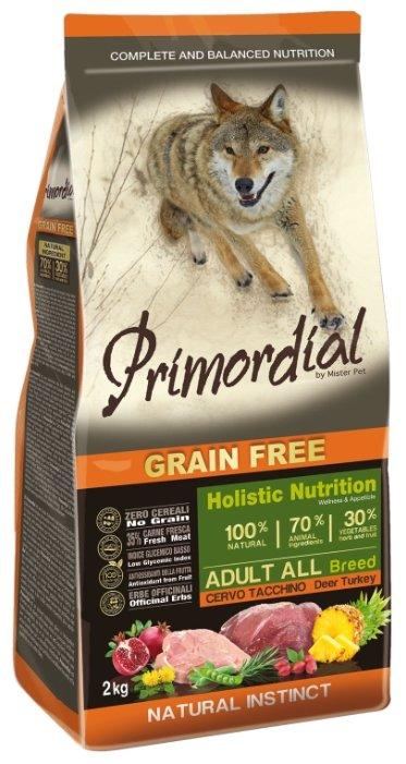PRIMORDIAL Корм сух 2кг для собак б/зерн.оленина индейка MSP5602, 65086