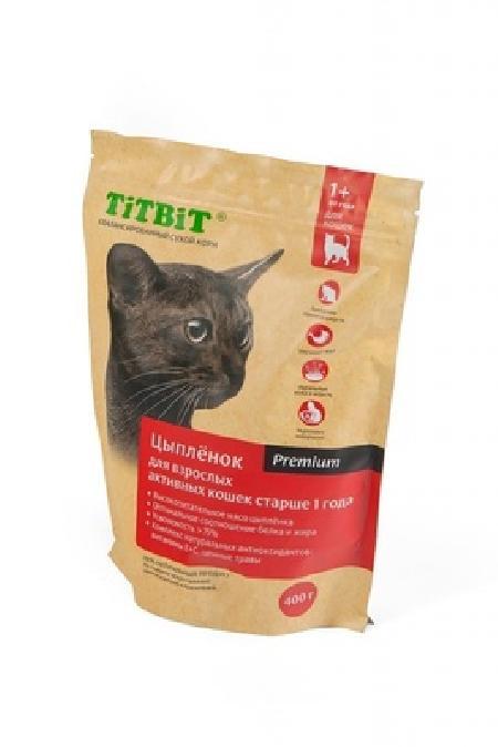 TiTBiT Сухой корм для активных кошек с цыпленком (9192), 1,500 кг