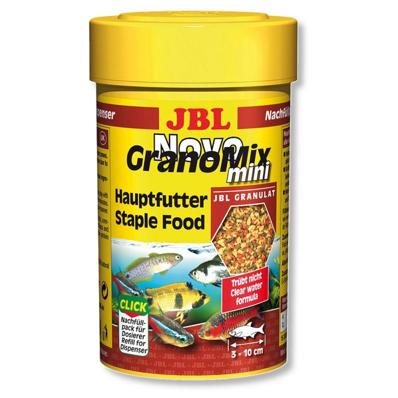 JBL NovoGranoMix mini Relif Осн.корм, гранулы, 100мл(42г) д/небольших акв.рыб