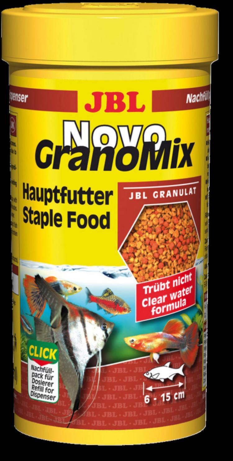 JBL NovoGranoMix Relif Осн.корм, гранулы, 250мл для средних и больших акв.рыб