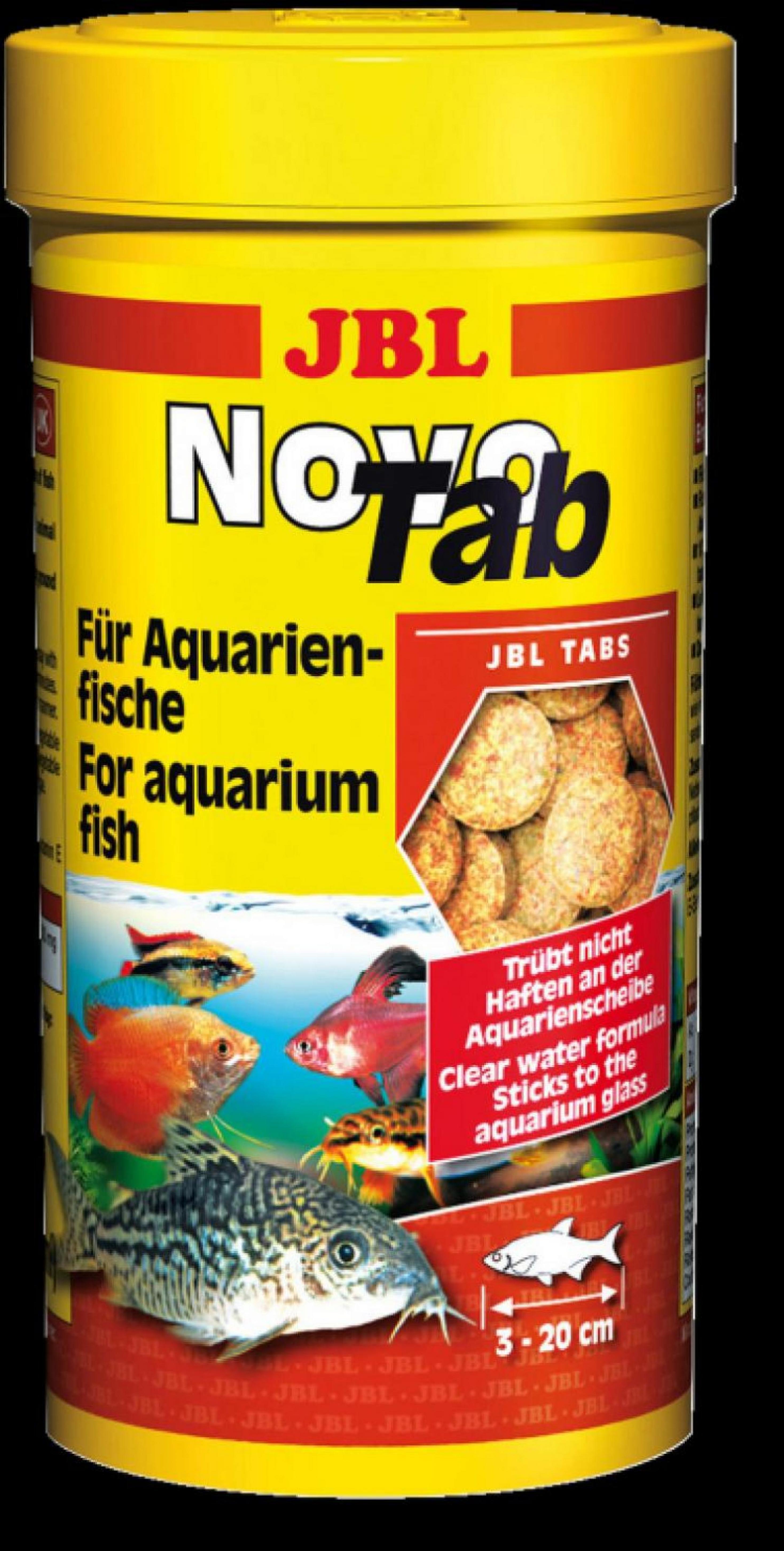JBL NovoTab Основной корм, таблетки, 15г д/пресноводных аквариумных рыб,