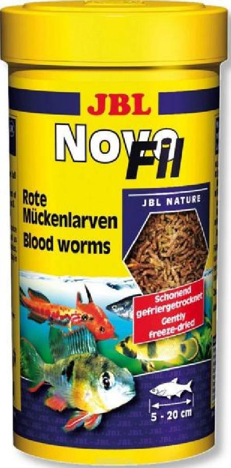JBL NovoFil - Сушеный мотыль, доп. корм для привередливых рыб и черепах, 250 мл (20 г)