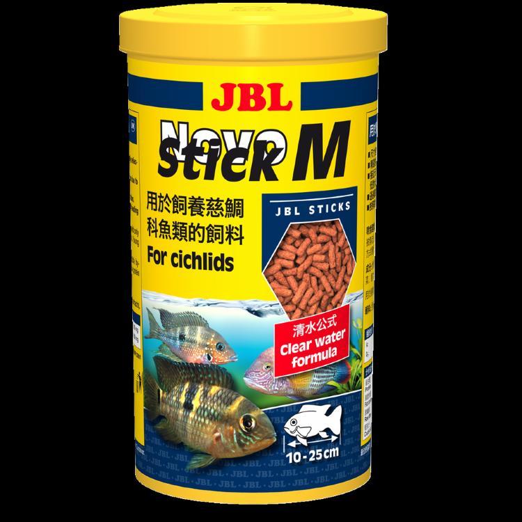 JBL NovoStick M - Основной корм в форме палочек для хищных цихлид, 250 мл (110 г)