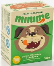 (t) Миними кон.д/собак ролл с Бараниной и овощами 100г, 83712