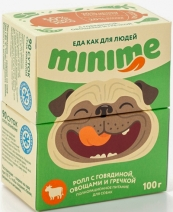 (t) Миними кон.д/собак ролл с Говядиной, овощами и гречкой 100г, 83713