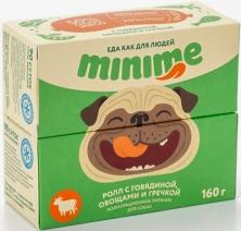 (t) Миними кон.д/собак ролл с Говядиной, овощами и гречкой 160г, 83716