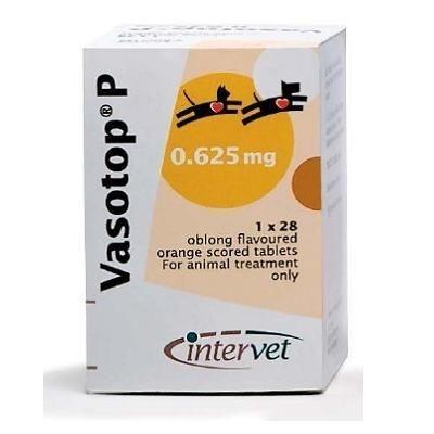 Intervet Вазотоп, 3 х 28  табл. по 0,625 мг. 6916, 0,070 кг