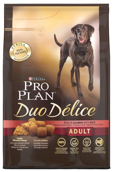 Pro Plan Duo Delice корм для взрослых собак всех пород, лосось и рис 700 гр