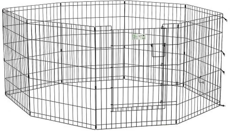 MidWest вольер Life Stages 8 панелей 61х76h см с дверью-MAXLock черный