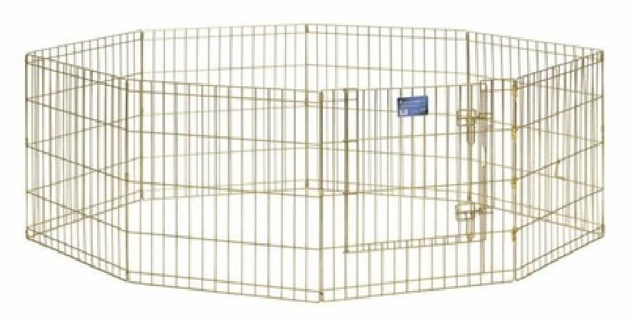 MidWest Вольер с дверью ,позолоченный цинк, 8 панелей, 61х76 см, 10,600 кг