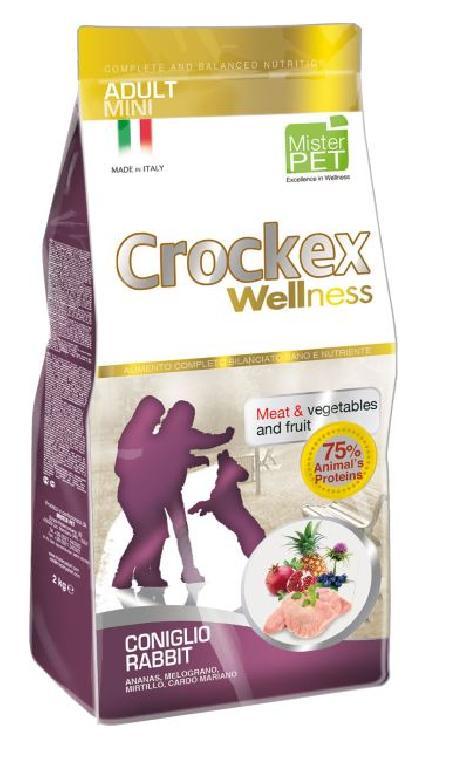 CROCKEX Wellness корм для взрослых собак малых пород, кролик с рисом 2 кг