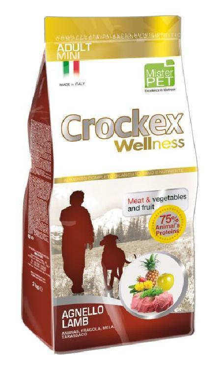CROCKEX Wellness корм для взрослых собак малых пород, ягненок с рисом 2 кг