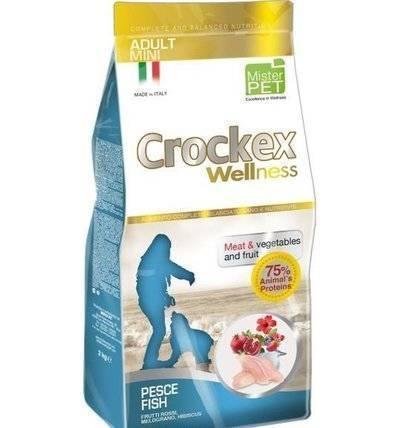CROCKEX Wellness корм для взрослых собак малых пород, рыба с рисом 2 кг