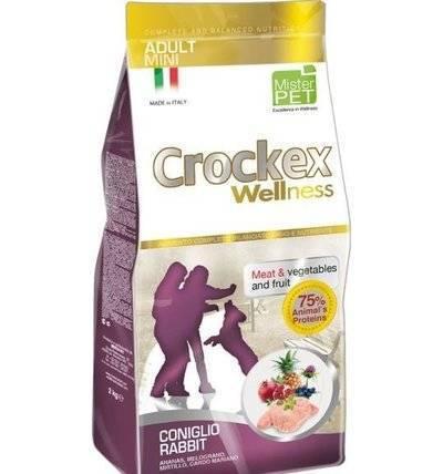 CROCKEX Wellness корм для взрослых собак малых пород, кролик с рисом 7,5 кг