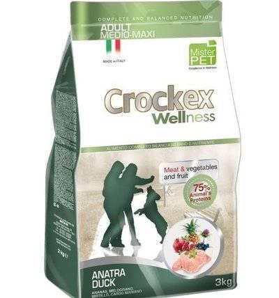 CROCKEX Wellness корм для взрослых собак средних и крупных пород, утка с рисом 12 кг
