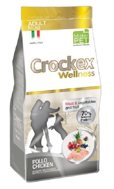 CROCKEX Wellness корм для взрослых собак малых пород, курица с рисом 2 кг