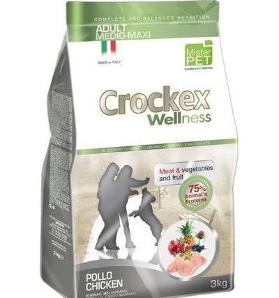 CROCKEX Wellness корм для взрослых собак средних и крупных пород, курица с рисом 12 кг