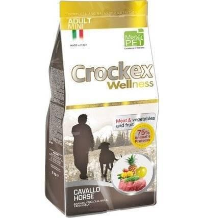 CROCKEX Wellness корм для взрослых собак малых пород, конина с рисом 2 кг