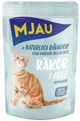 Mjau влажный корм для кошек всех пород и возрастов, креветки в желе 85 гр