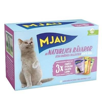 Mjau влажный корм для кошек всех пород и возрастов, мясное ассорти 85 гр