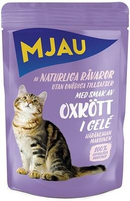 Mjau влажный корм для кошек всех пород и возрастов, говядина в желе 85 гр