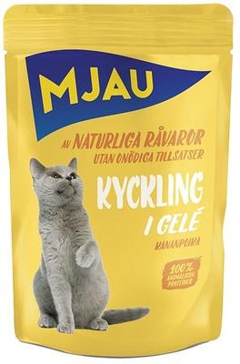 Mjau влажный корм для кошек всех пород и возрастов, курица в желе 85 гр