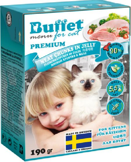 Buffet Кусочки в желе для котят с индейкой 70442, 0,190 кг