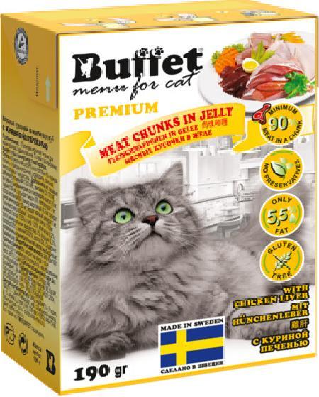 Buffet Кусочки в желе для кошек с куриной печенью 70448, 0,190 кг