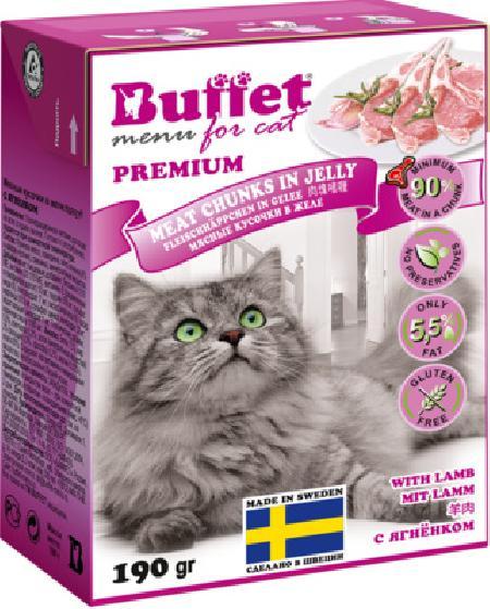 Buffet Кусочки в желе для кошек с ягненком 70453, 0,190 кг