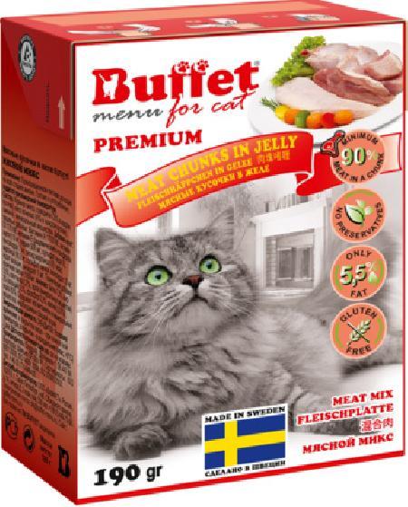 Buffet Кусочки в желе для кошек мясной микс 70444, 0,190 кг