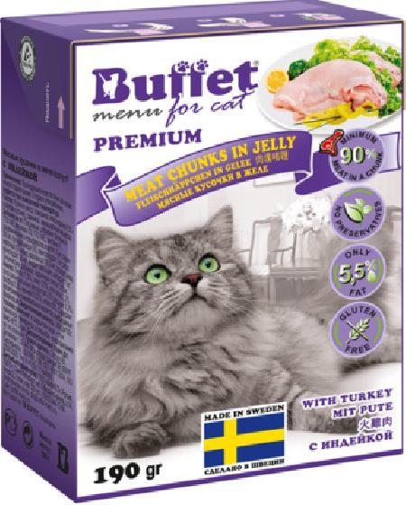 Buffet Кусочки в желе для кошек с индейкой 70443, 0,190 кг