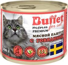 Баффет 9812 кон.д/кошек паштет с Говядиной 200г, 84422