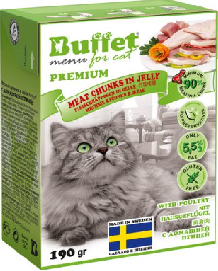 Buffet Кусочки в желе для кошек с домашней птицей 70446, 0,190 кг