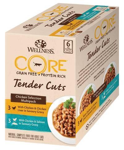 Wellness Core влажный корм для взрослых кошек всех пород, кусочки курицы, ассорти 510 гр